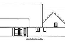 Country Exterior - Rear Elevation Plan #42-343