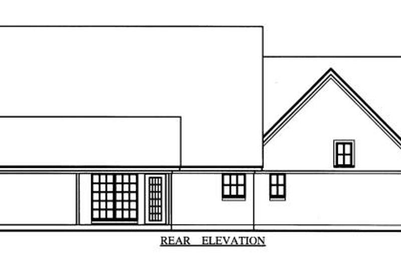Country Exterior - Rear Elevation Plan #42-343 - Houseplans.com