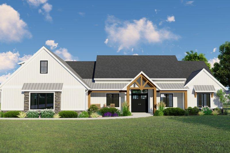 House Plan Design - Farmhouse Exterior - Front Elevation Plan #1064-141