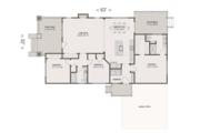 Craftsman Style House Plan - 3 Beds 2 Baths 1615 Sq/Ft Plan #461-52 Floor Plan - Main Floor Plan