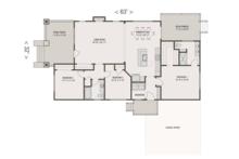 Craftsman Floor Plan - Main Floor Plan Plan #461-52