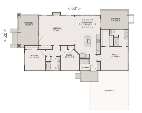 Architectural House Design - Craftsman Floor Plan - Main Floor Plan #461-52