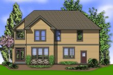 Country Exterior - Rear Elevation Plan #48-635