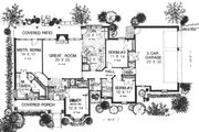 Traditional Style House Plan - 3 Beds 2.5 Baths 2086 Sq/Ft Plan #310-609 Floor Plan - Main Floor
