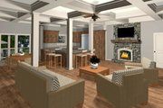 Craftsman Style House Plan - 4 Beds 3 Baths 1898 Sq/Ft Plan #56-706 Interior - Family Room