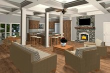 Home Plan - Family Room/Dining/Kitchen Alt Color