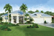 Beach Style House Plan - 4 Beds 3 Baths 2386 Sq/Ft Plan #938-83 Exterior - Front Elevation