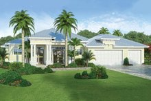 Beach Exterior - Front Elevation Plan #938-83