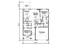 Cottage Floor Plan - Main Floor Plan Plan #20-2315