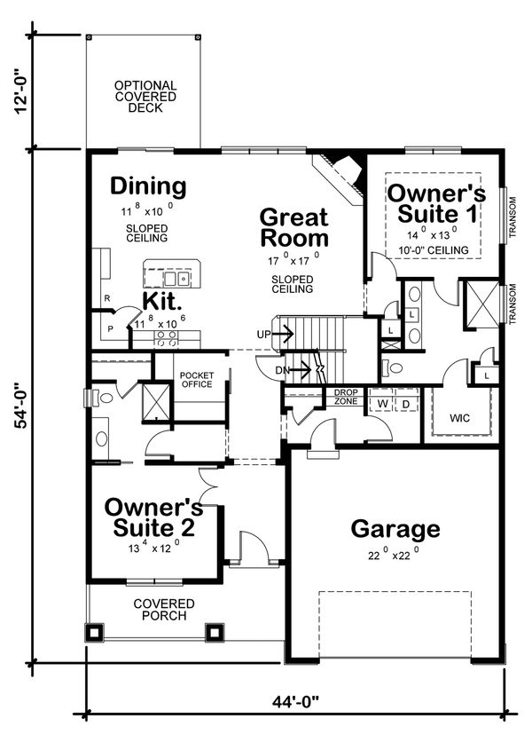 Architectural House Design - Cottage Floor Plan - Main Floor Plan #20-2315