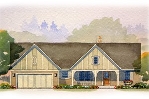 Ranch Exterior - Front Elevation Plan #901-64