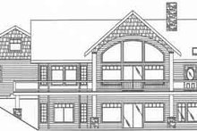 House Design - Country Exterior - Rear Elevation Plan #117-272
