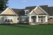 Craftsman Style House Plan - 3 Beds 2.5 Baths 2881 Sq/Ft Plan #51-579 Exterior - Front Elevation