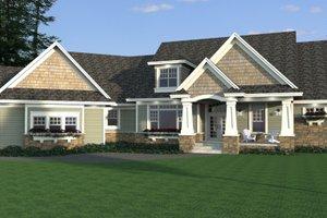 Craftsman Exterior - Front Elevation Plan #51-579