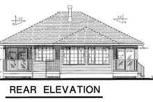 Traditional Exterior - Rear Elevation Plan #18-175