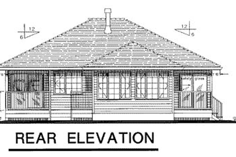 Traditional Exterior - Rear Elevation Plan #18-175 - Houseplans.com