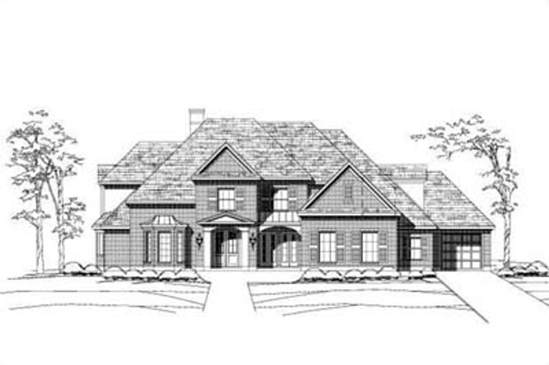 Traditional Style House Plan - 5 Beds 4.5 Baths 5498 Sq/Ft Plan #411-145 Exterior - Front Elevation