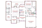 Traditional Style House Plan - 4 Beds 2.5 Baths 2659 Sq/Ft Plan #63-130 Floor Plan - Main Floor Plan