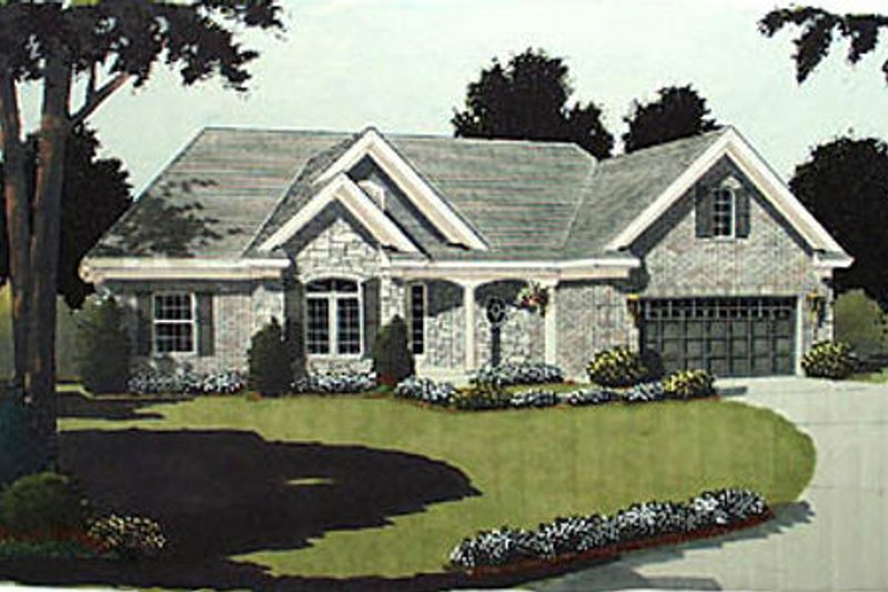 Traditional Exterior - Other Elevation Plan #46-103 - Houseplans.com