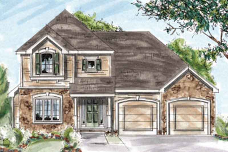 Traditional Exterior - Front Elevation Plan #20-1253 - Houseplans.com