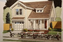 Dream House Plan - Craftsman Exterior - Front Elevation Plan #513-12