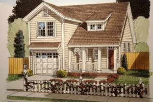 Architectural House Design - Craftsman Exterior - Front Elevation Plan #513-12