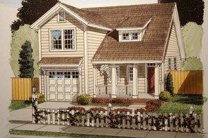 Craftsman Exterior - Front Elevation Plan #513-12