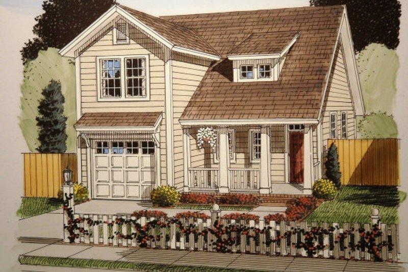 Architectural House Design - Craftsman Exterior - Front Elevation Plan #513-12