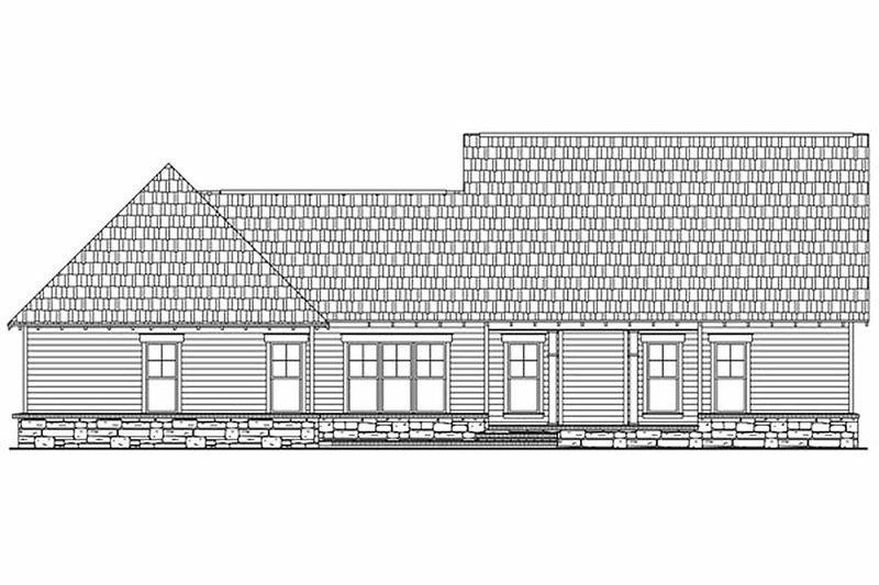 Craftsman Exterior - Rear Elevation Plan #21-275 - Houseplans.com