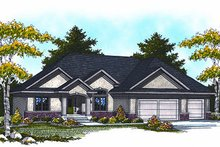 Mediterranean Exterior - Front Elevation Plan #70-869