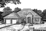 European Style House Plan - 4 Beds 2 Baths 1640 Sq/Ft Plan #310-162 Exterior - Front Elevation
