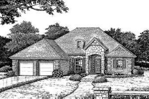 European Exterior - Front Elevation Plan #310-162
