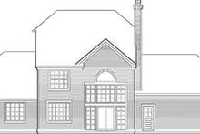 Tudor Exterior - Rear Elevation Plan #48-211