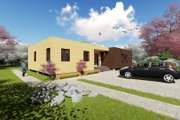 Modern Style House Plan - 4 Beds 2 Baths 1505 Sq/Ft Plan #549-3 Exterior - Rear Elevation