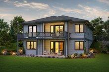 Architectural House Design - Contemporary Exterior - Rear Elevation Plan #48-961