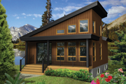 Contemporary Style House Plan - 1 Beds 1 Baths 624 Sq/Ft Plan #25-4384