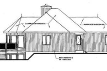 Home Plan - Contemporary Exterior - Rear Elevation Plan #23-2168