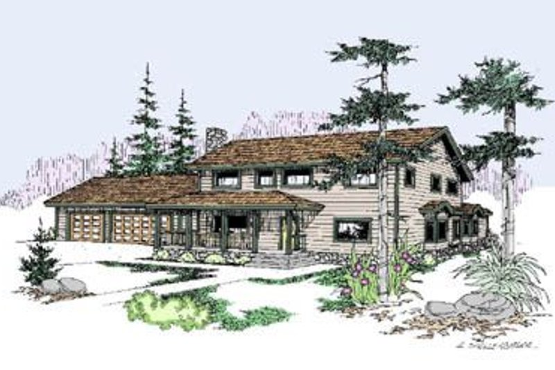 Traditional Exterior - Front Elevation Plan #60-252 - Houseplans.com