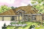 Mediterranean Style House Plan - 3 Beds 2 Baths 2810 Sq/Ft Plan #124-727 Exterior - Front Elevation