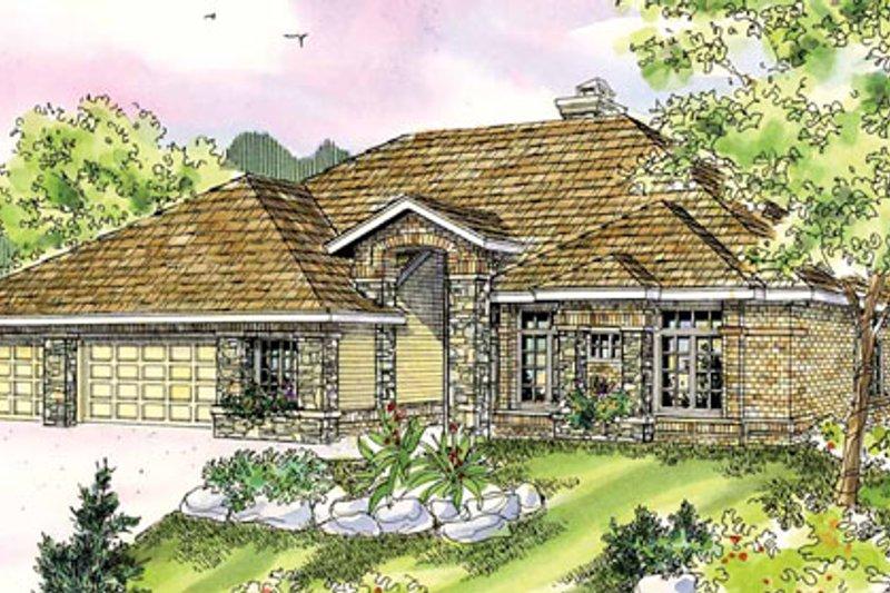 Dream House Plan - Mediterranean Exterior - Front Elevation Plan #124-727