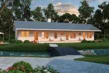 Home Plan Design - Ranch Exterior - Front Elevation Plan #888-4