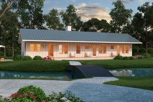Ranch Exterior - Front Elevation Plan #888-4