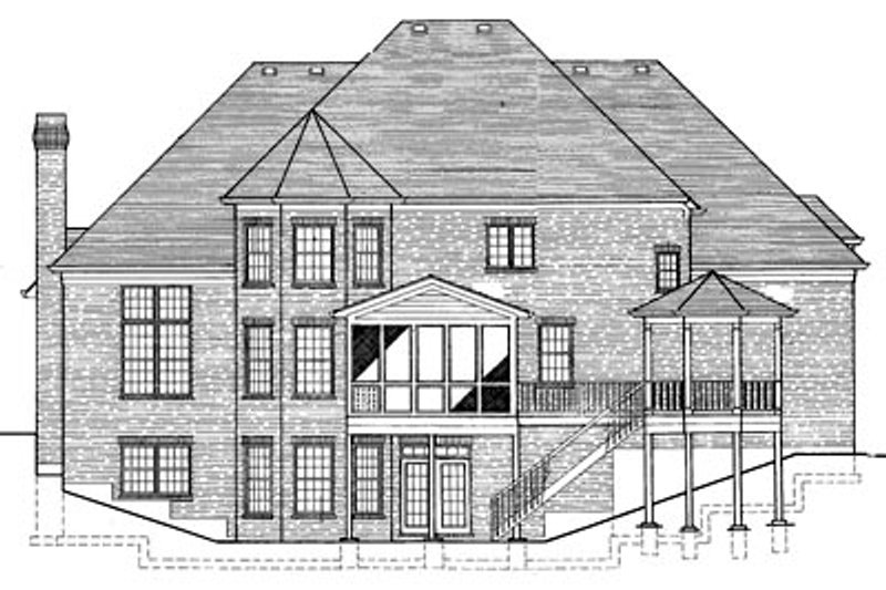 Southern Exterior - Rear Elevation Plan #46-181 - Houseplans.com