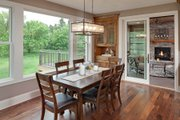 Craftsman Style House Plan - 3 Beds 3 Baths 5121 Sq/Ft Plan #51-581 Interior - Dining Room