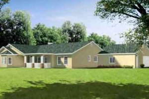 Country Exterior - Front Elevation Plan #1-776