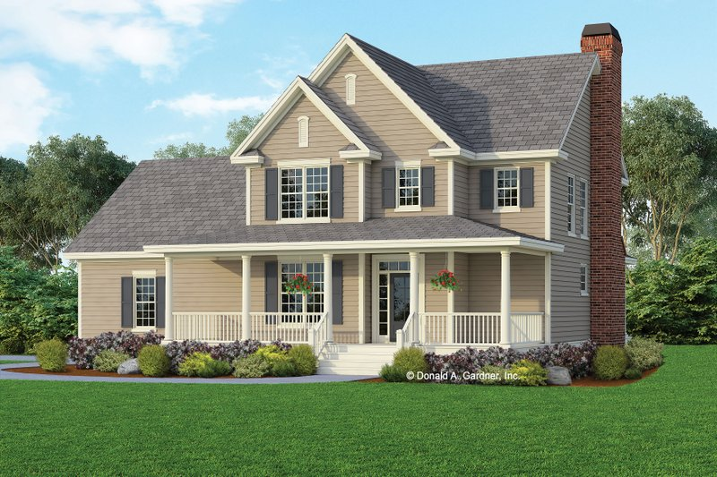 Farmhouse Style House Plan - 3 Beds 2.5 Baths 2064 Sq/Ft Plan #929-688 Exterior - Front Elevation
