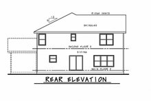 Craftsman Exterior - Rear Elevation Plan #20-2343