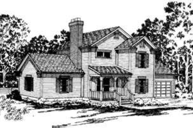 Farmhouse Exterior - Front Elevation Plan #124-147