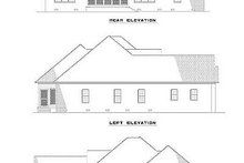 House Plan Design - Southern Exterior - Rear Elevation Plan #17-1104