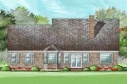 Country Style House Plan - 4 Beds 3 Baths 2272 Sq/Ft Plan #137-182 Exterior - Rear Elevation